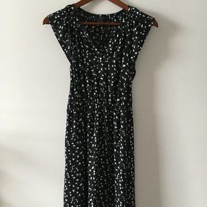 J. Crew Black Daisy Midi Dress